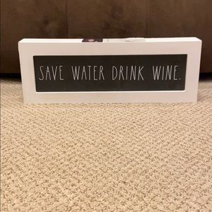 Rae Dunn SAVE WATER DRINK WINE Wooden Sign